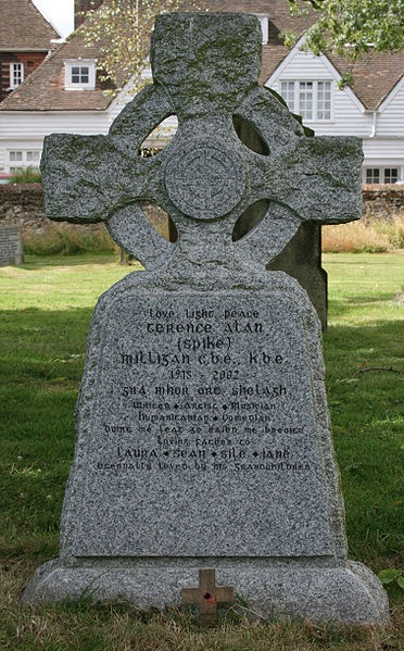 """Spike Milligan's gravestone says """"I told you I was ill"""" in Irish."""