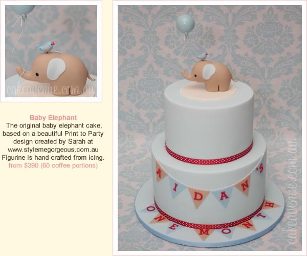 Baby Elephant Cake   Style Me Gorgeous