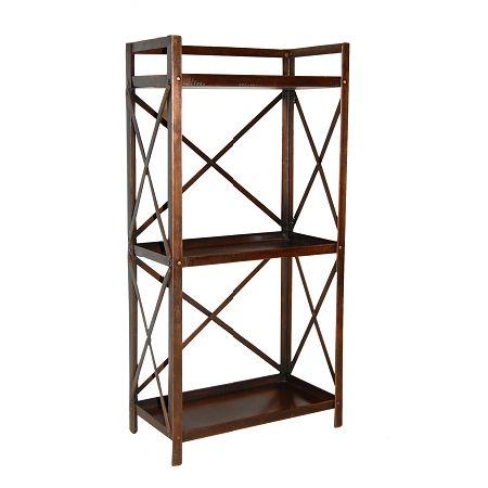 Industriële boekenkast koper - Blockdesign