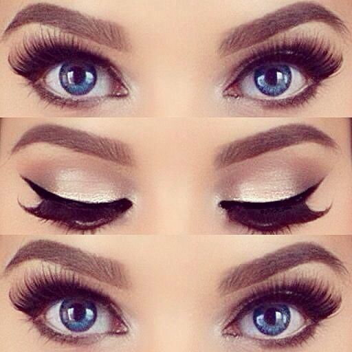 See more interesting makeup tutorials on http://pinmakeuptips.com/how-to-achieve-the-false-eyelash-look/