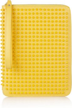 This studded Christian Louboutin iPad case will brighten up any front row