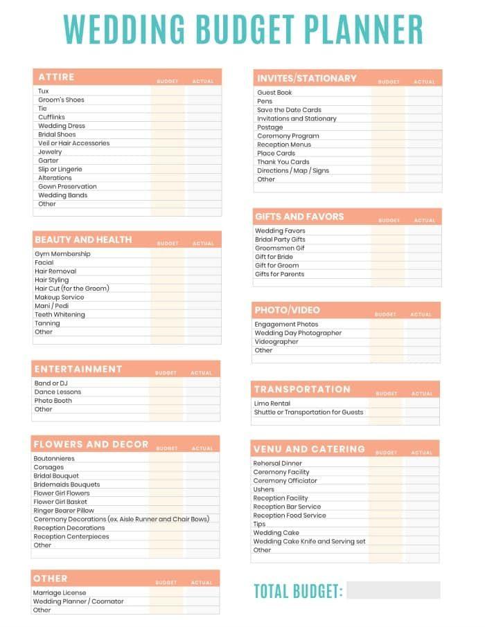 Free Printables Wedding Budget Planner Wedding Budget Planner Budget Planner Free Wedding Planner Printables