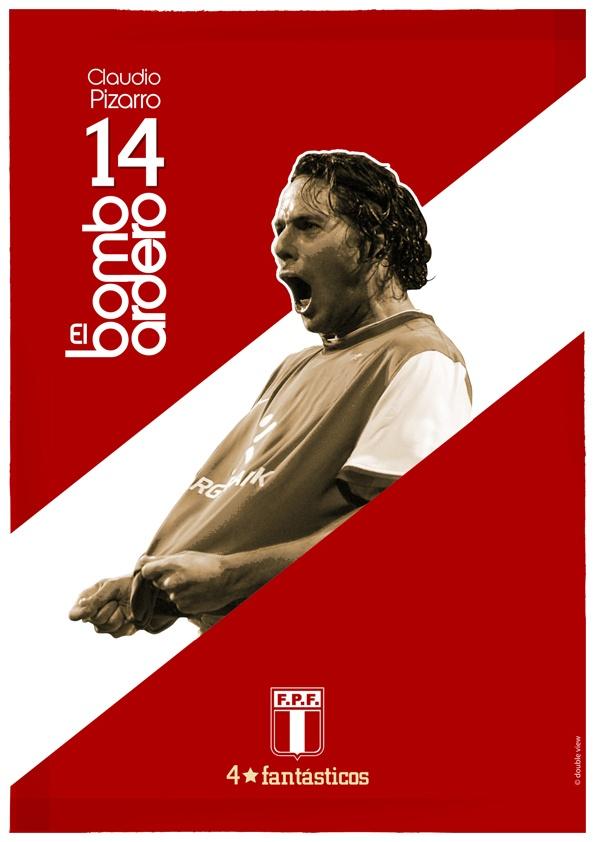 Claudio Pizarro peruvian soccer player // www.cargocollective.com/doubleview