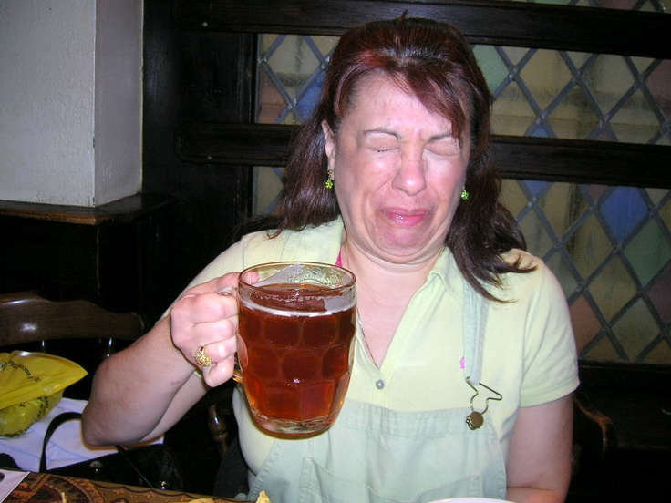 The best bitter beer face ever!