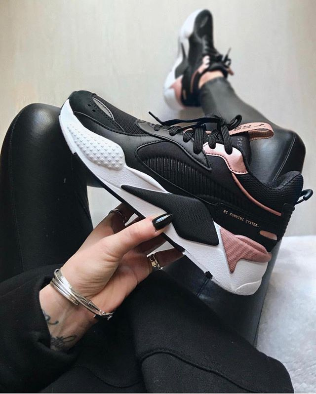 new product 7616a a93af The new Puma RS-X in black, white and pink. Cool Puma sneakers for 2019.