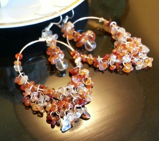Carnelian and glass earrings from Church of Adornment