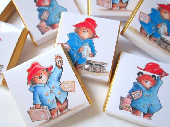 Personalised Chocolates Paddington Bear party favour birthday