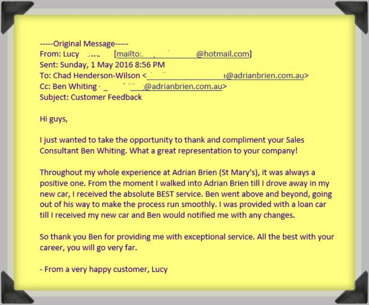 """""""Hi guys,  I just wanted to take the opportunity to thank and compliment your Sales Consultant Ben Whiting. What a great representation to your company!  Click here to learn more... http://adelaidereviews.com/1427/customer-review-of-adrian-brien-hyundai-by-lucy-from-marino/"""