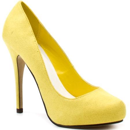 loveme yellow suede pu