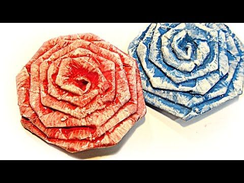 Cómo hacer una rosa con una cremallera. How to make a rose with a zipper. - YouTube