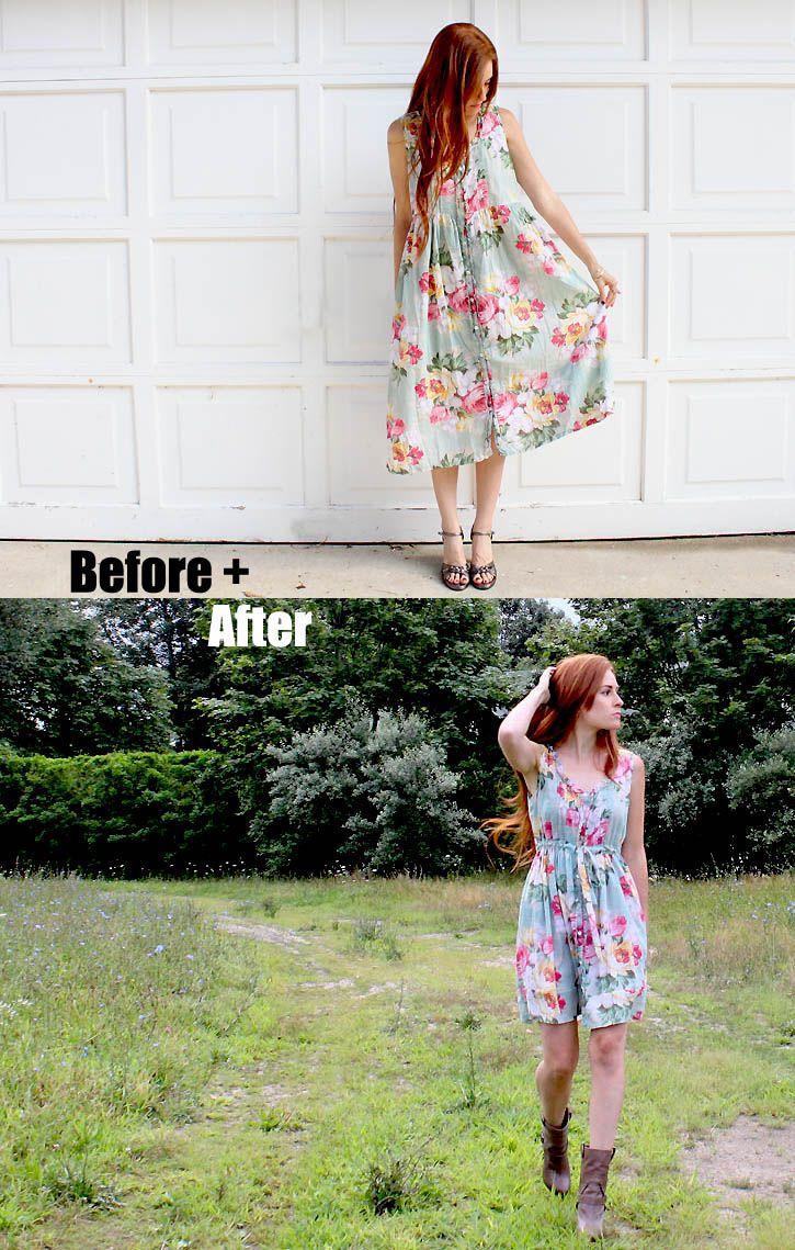 Crochet Clouds: diy vintage dress reconstruction