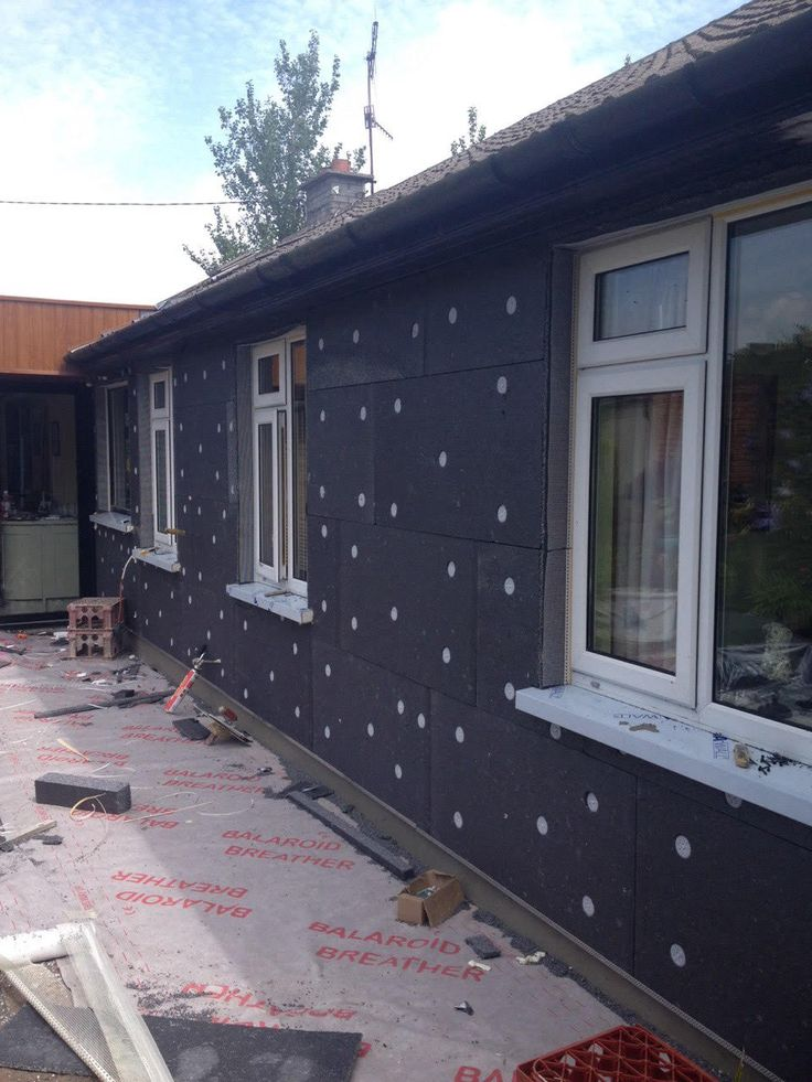 External Wall Insulation being applied