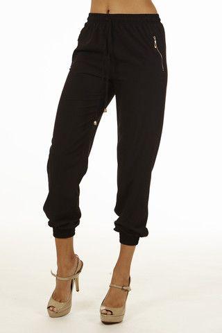 Black Smocked Capri Cargo Pants Pants – Home Goods Galore