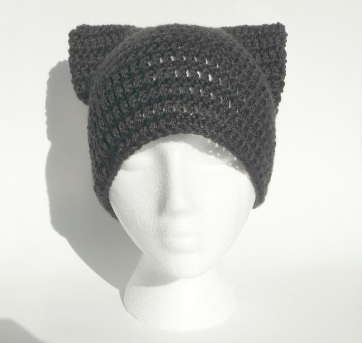 Crochet Kitty Cat Hat Pattern : Cat Beanie CROCHET PATTERN Anime Cosplay Cat Ears Cat ...