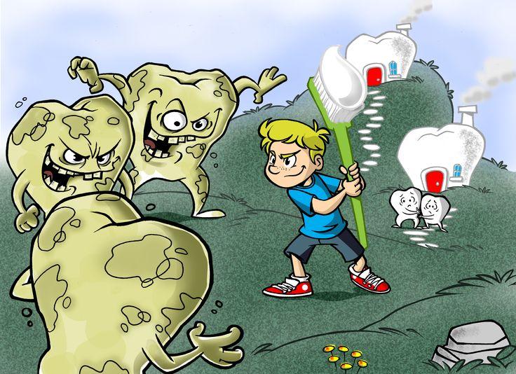 Luta contra dentes sujos!