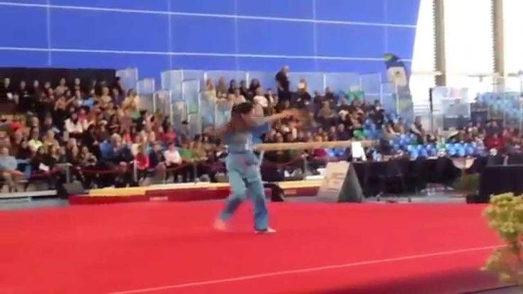 Wang Heng Wushu Demo at the 2014 Pacific Rim Gymnastics Championships
