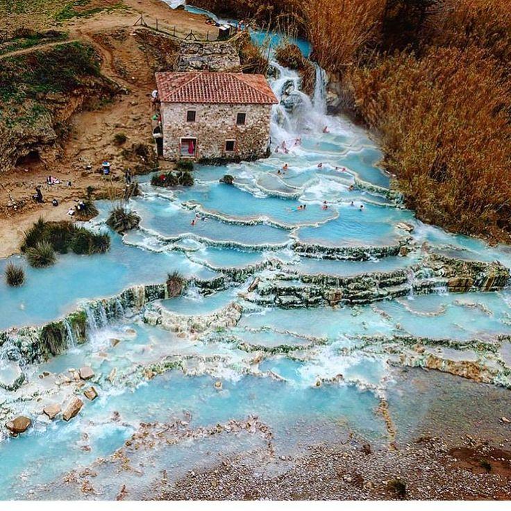 Saturnia, Italy...❄