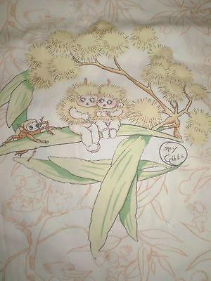 Vintage MAY GIBBS GUMNUT BABIES / CRICKET Fabric (25cm x 32cm)