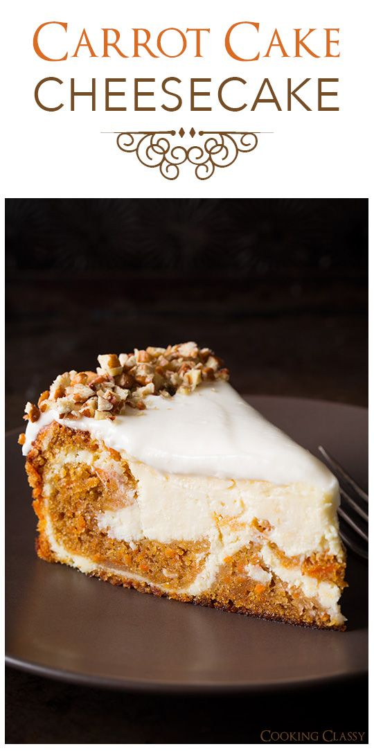 Carrot Cake Cheesecake from CookingClassy.com