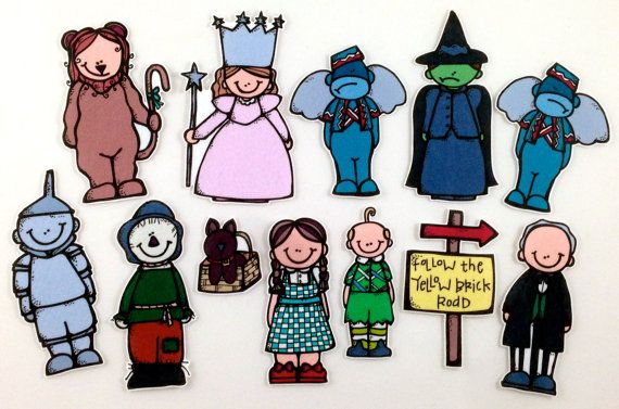 Wizard of Oz Felt Board Story Set byMaree on Etsy, $20.00