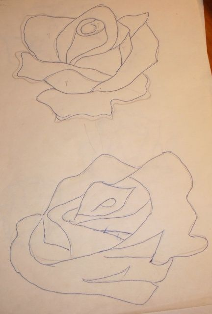 Красивая роза при помощи шнура гусенички. Обсуждение на LiveInternet - Российский Сервис Онлайн-Дневников
