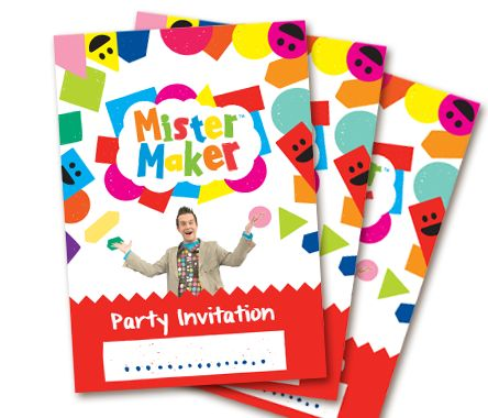 Mister Maker - Party kit downloadable