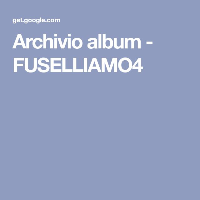 Archivio album - FUSELLIAMO4