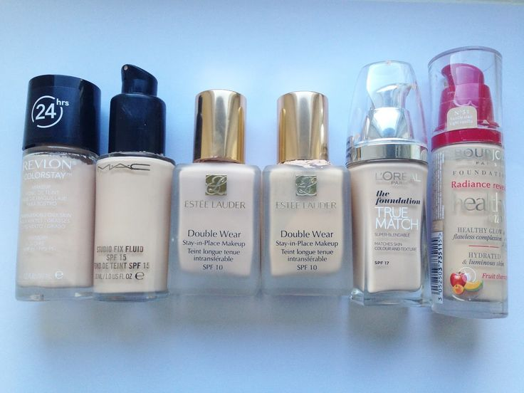My Foundation Collection - Pale Oily Skin Foundation Reviews and Recommendations featuring MAC, Estee Lauder, Bourjois, L'Oreal, Revlon | Cherries In The Snow