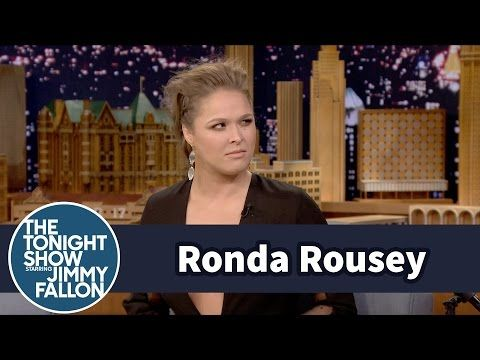 Ronda Rousey Pretty Much Killed It on 'Jimmy Fallon' - Ronda Rousey - Zimbio