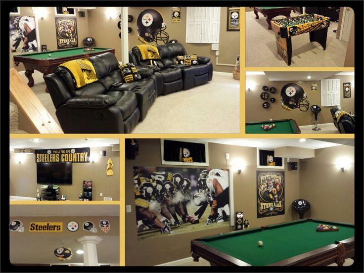 Man Cave Locker Room : Pittsburgh steelers man cave room ideas joy studio
