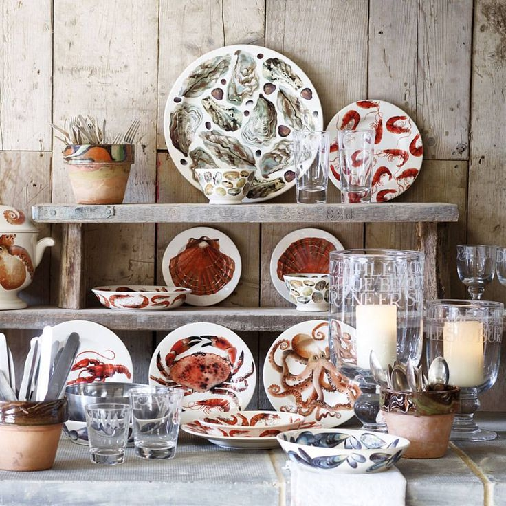 "1,596 Likes, 15 Comments - Emma Bridgewater (@emma_bridgewater) on Instagram: ""Shellfish make the most decorative of subjects, and hunting out the models from a fisherman friend…"""