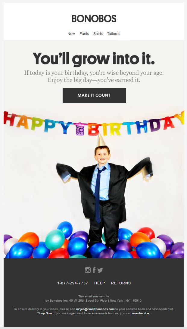 257 best Email - Auto Birthday images on Pinterest Birthday - sample happy birthday email