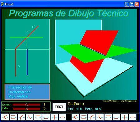 Aplicaciones interseccion planos rectas etc di drico for Aplicacion para planos