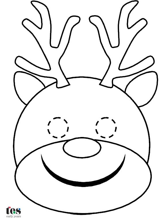 Simple masks for Christmas roleplay and storytelling - reindeer, elf, Santa and Mrs Claus