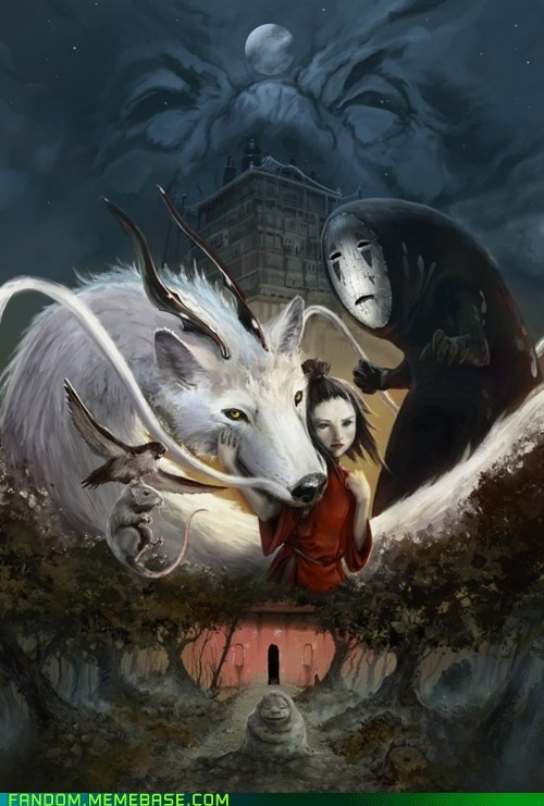 Oooh, pretty - Spirited Away: Studio Ghibli, Not Them Miyazaki, Spiritedaway, Spirited Away, Illustration, Art, Movie, Anime