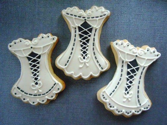 Bridal corset cookies