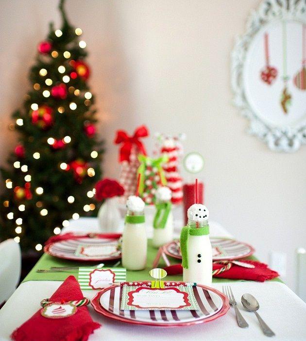Arrumando a mesa para o Natal