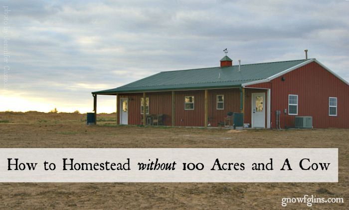 """When I hear the following comment: ""I really want to homestead, but we're waiting until we can afford to buy an acreage."" I usually respond with this: ""If you have a home, you have a homestead."" Today I will share ways you can create a homestead, regardless of where you live or the resources you have (or don't have)."" GNOWFGLINS.com"
