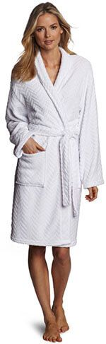 Seven Apparel Herringbone Textured Plush Robe