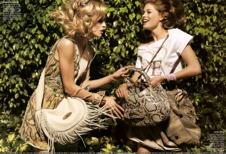 EDITORIAL: Boho in Paradise MAGAZINE: Vogue MODEL: Doutzen Kroes and Raquel Zimmermann PHOTOGRAPHER: Inez and Vinoodh