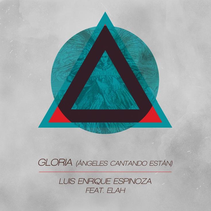 Discarded christmas single artwork. Gloria (Angeles Cantando Estan) by Luis Enrique Espinoza Feat. ELAH (my band). Arien G. Design.