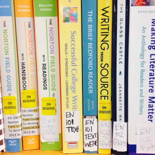 The Library May Have Your Course Textbook in Our Course Reserve Section Course Reserves are titles set aside in the library by faculty for their courses. Note that not all courses have books on reserve in the library. You can look your textbook up in...