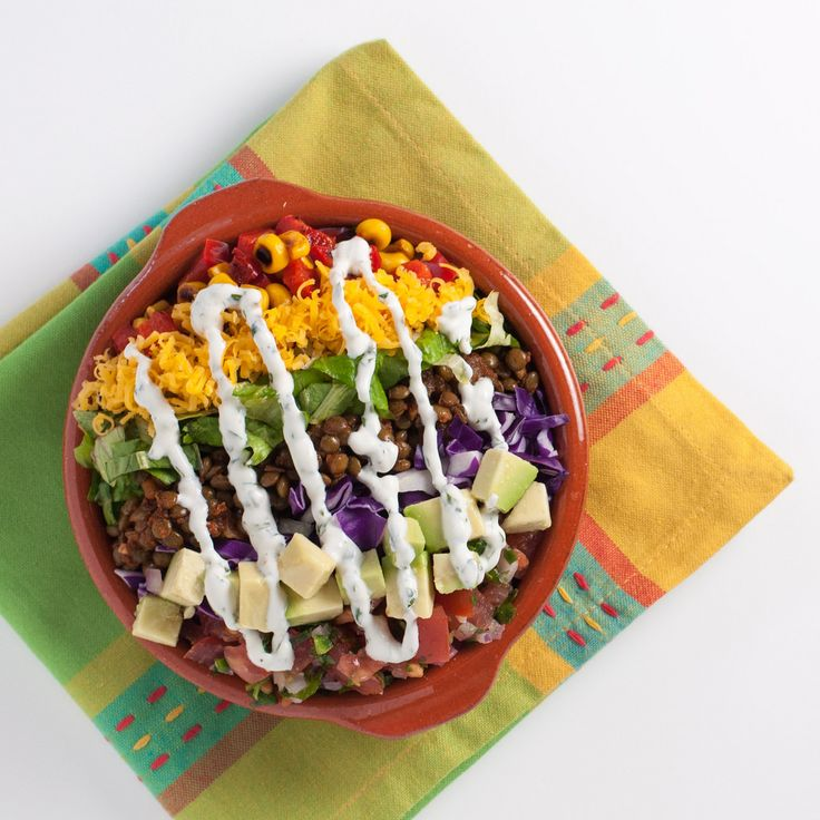 Spiced lentil taco salad | Natural Comfort Kitchen