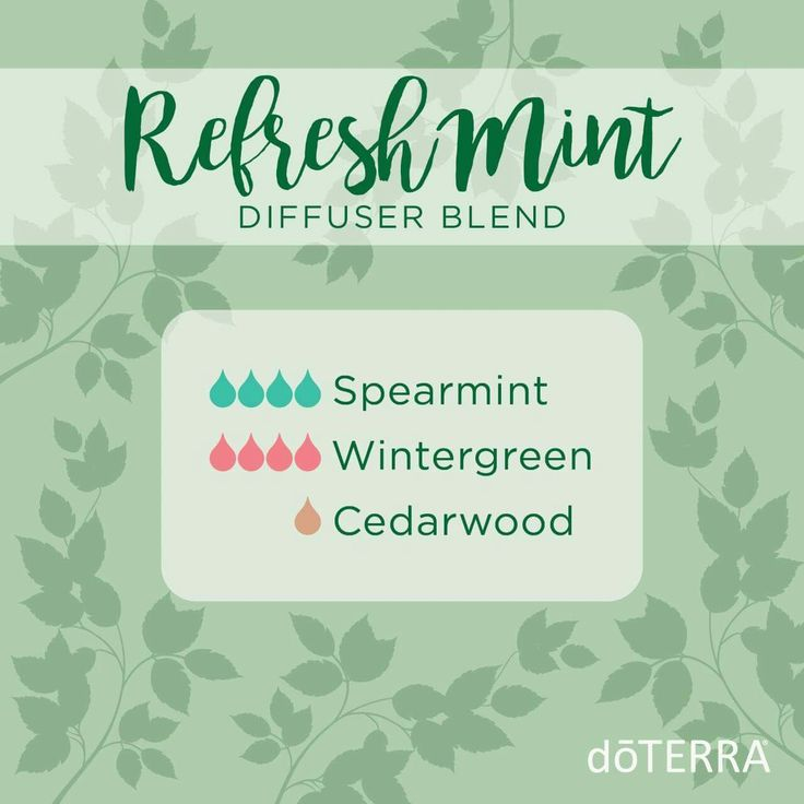 This cooling mint blend is crisp, yet sweet, and the guys in the office love it! This diffuser blend is perfect for mixed company- or really any company at all. You can't go wrong with this one! Mydoterra.com/annasamano