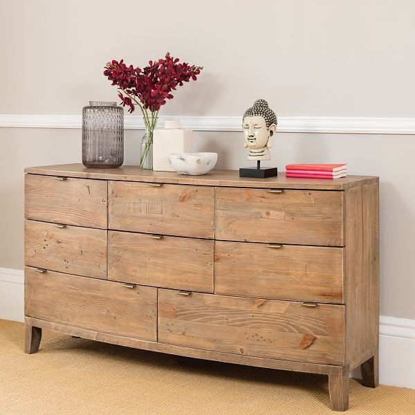 Charming Winchester Rustic Wooden Large Chest Of Drawers