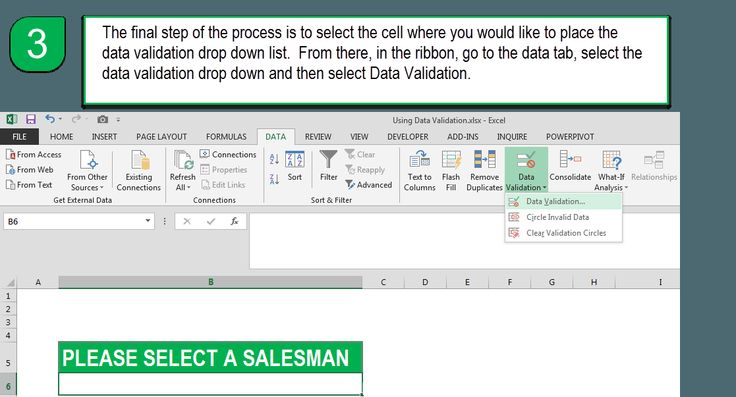 The Excel Data Validation List will be the first part of a series of posts to show how to build a dynamic/user interactive salesman dashboard.