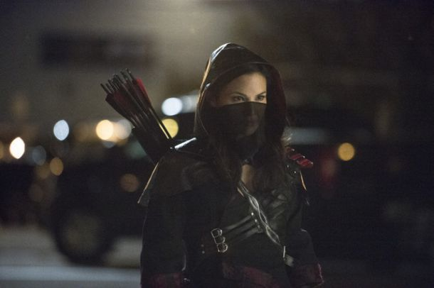 Katrina Law as Nyssa al Ghul in Arrow.