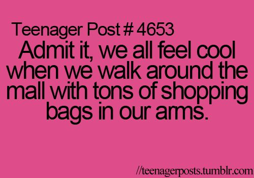 teenager post: shopping