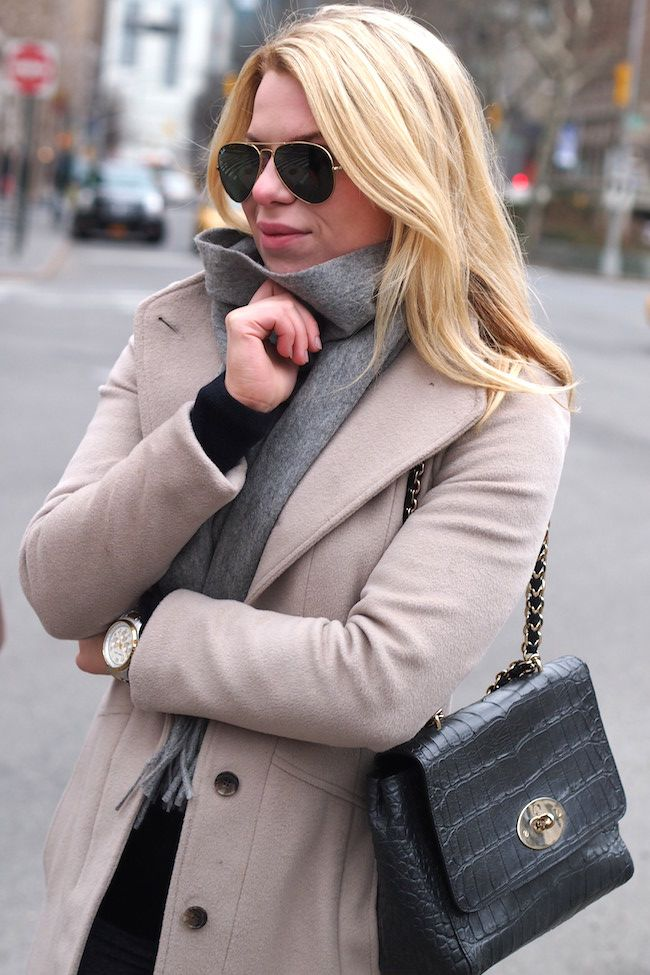 Reiss Evia Coat Yves Saint Laurent scarf Mulberry Medium Cecily  http://www.yummyjenni.com