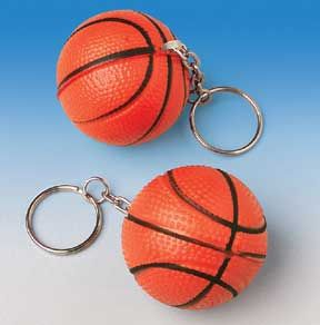 basketball party favors | Party Favors and Candy BASKETBALL KEYCHAINS [ 1 Dozen ]
